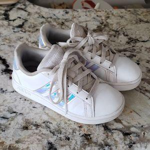 Girls Adidas Tennis Shoes Size 11K